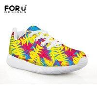 FORUDESIGNS Yellow Flat Comfort Children Walking Shoes For Little Boys Green Lightweight Mesh Sport Shoes For