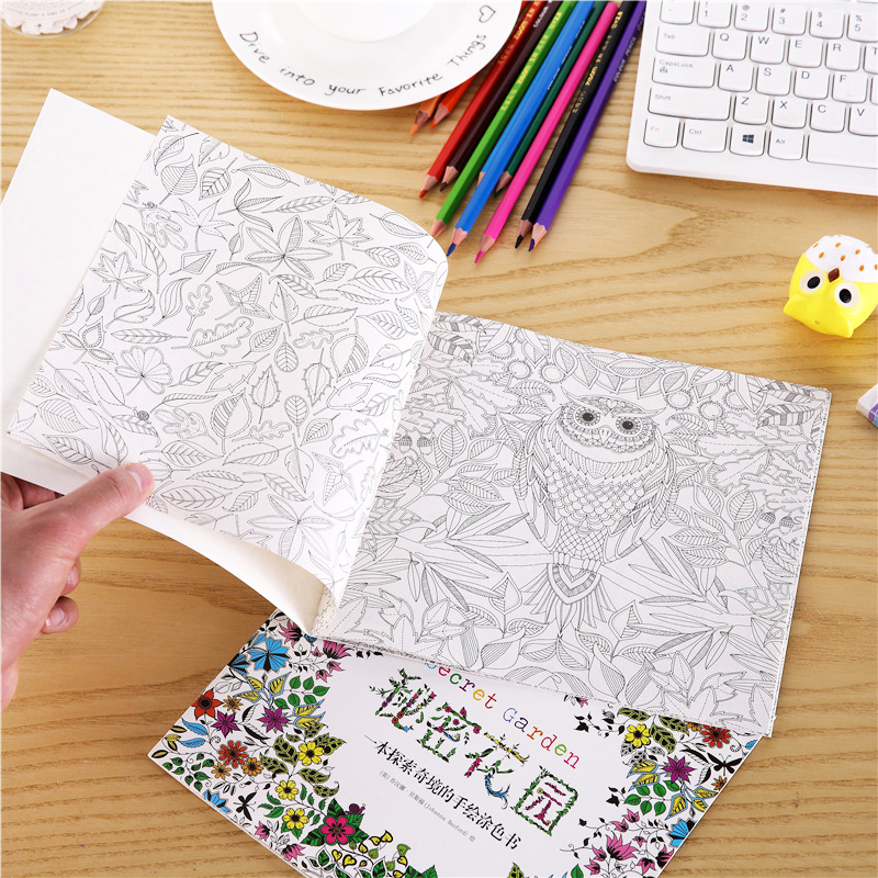 1pc Mini Color Secret Garden Children Paint Book Art Student Graffiti Drawing Paper Card Stationery Tracing Educational Toy Gift