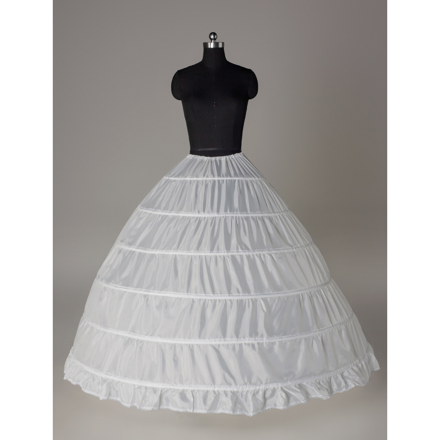 Купить с кэшбэком Wedding accessories discount plus size 6 hoops underskirt ball gown wedding petticoat
