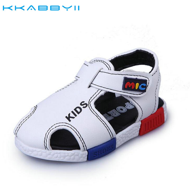 KKABBYII Children Shoes Boys Growing Sandals New Summer Leather Casual Beach Boys Sandals Soft Kids Shoes Chaussure Enfant