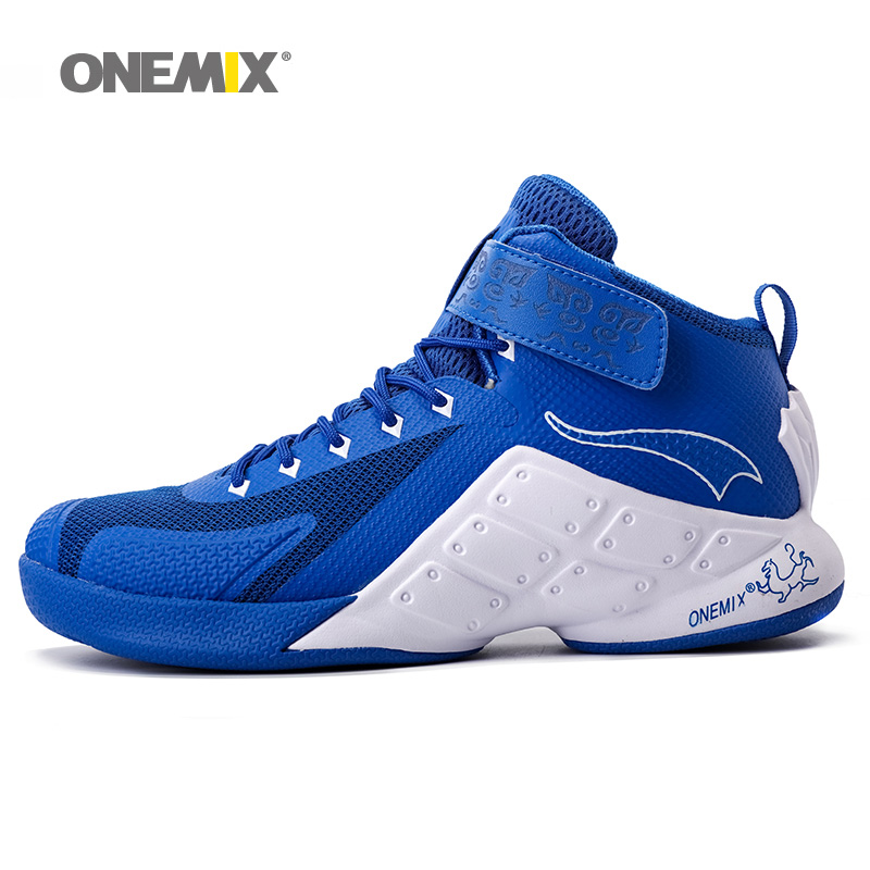 ONEMIX Man Basketball Shoes For Men Nice Classic Athletic Basketball Boots Trainers White Sports Shoe Outdoor Walking Sneakers