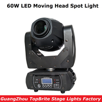 60W LED Moving Head Spot Stage Lighting 10/12 DMX Channel Hi Quality Big Discount 60W Led Moving Head Beam Light AC110 220v