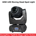 60 Вт LED Moving Head Spot Stage Lighting 10/12 DMX Channel высокое качество Большая скидка 60 Вт Led Moving Head Beam Light AC110-220v