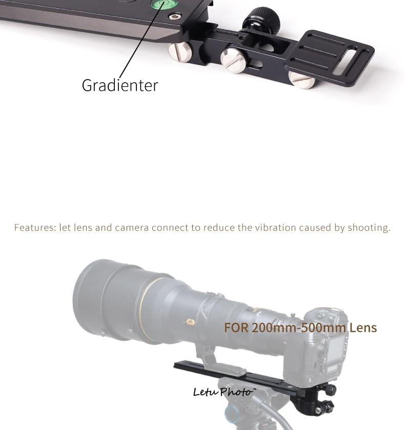 XILETU XVQ-250 Telephoto Lens Bracket Frame for 200-500mm Lens Screw 1//4-3//8