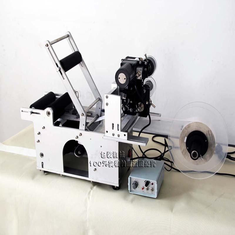 Półautomatyczna maszyna do etykietowania okrągłych butelek LT-50D Etykieciarka z drukarką etykiet do drukowania daty