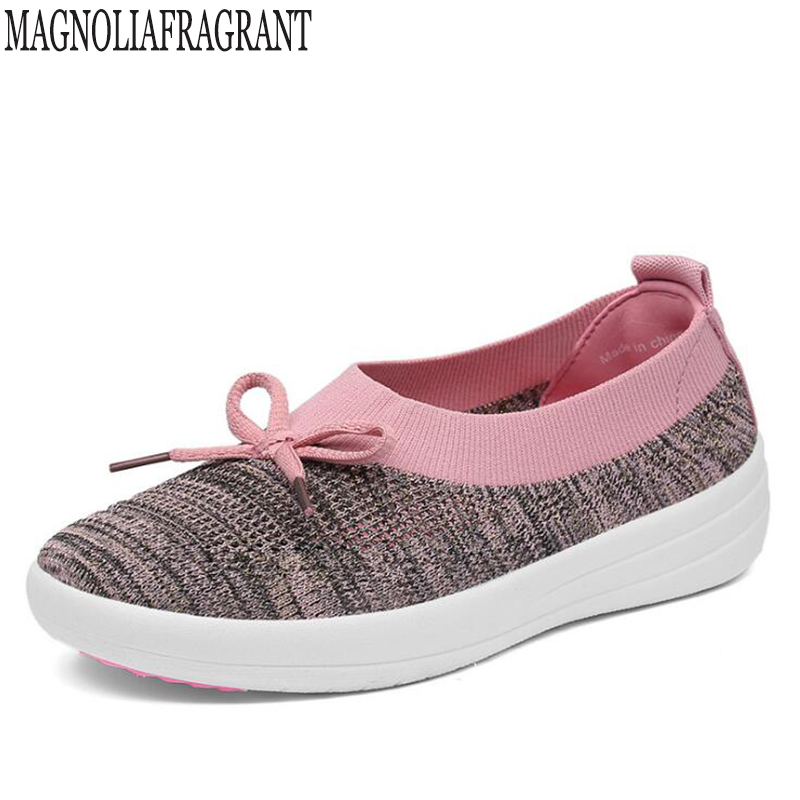 2018 New spring women Casual Shoes Summer Mesh For shoes woman,Super Light Flats Shoes, Foot Lightweight Sneakers shoes k660 instantarts women flats emoji face smile pattern summer air mesh beach flat shoes for youth girls mujer casual light sneakers