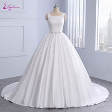 Waulizane Ball Gown Wedding Dress Lustrous Bridal Gown