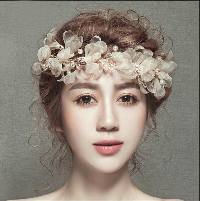 1pcs Handmade Bridal Hair Flower Silk Blossom Clips Wedding Party Woman Girls Accessories Fascinator