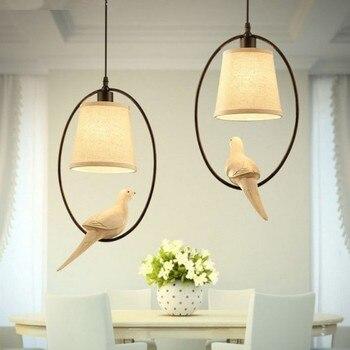 Żelaza ptak lampa wisząca amerykański Nordic wisiorek światła osobowość twórcza Bar żelaza ptak restauracja przejściach i korytarzach korytarz FG984