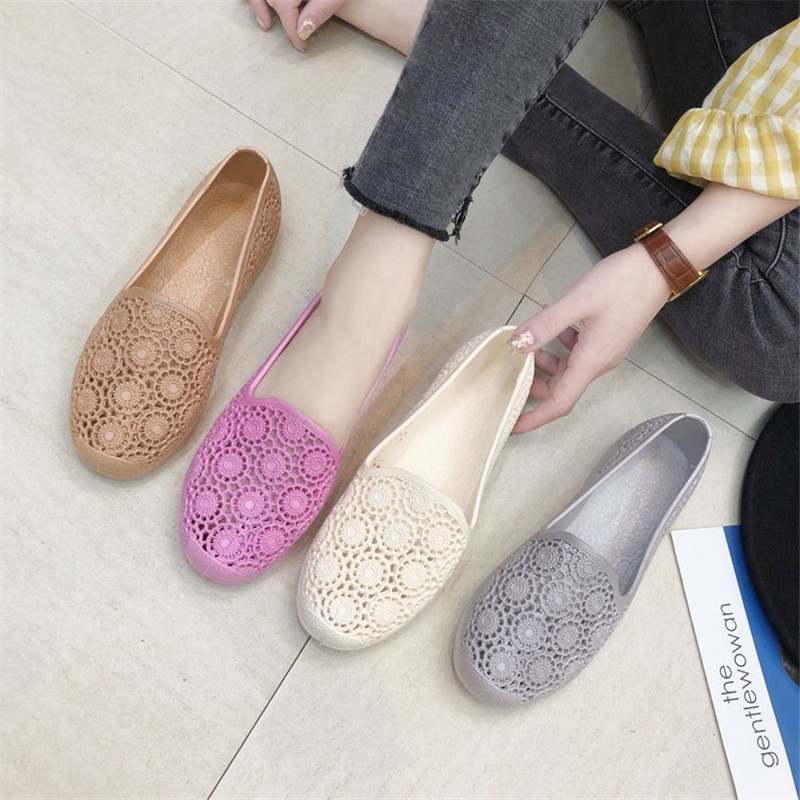 Loafers Flats-Shoes Spring Ballerines Slip-On 36-41women Large-Size Woman Summer Cutout-Hole