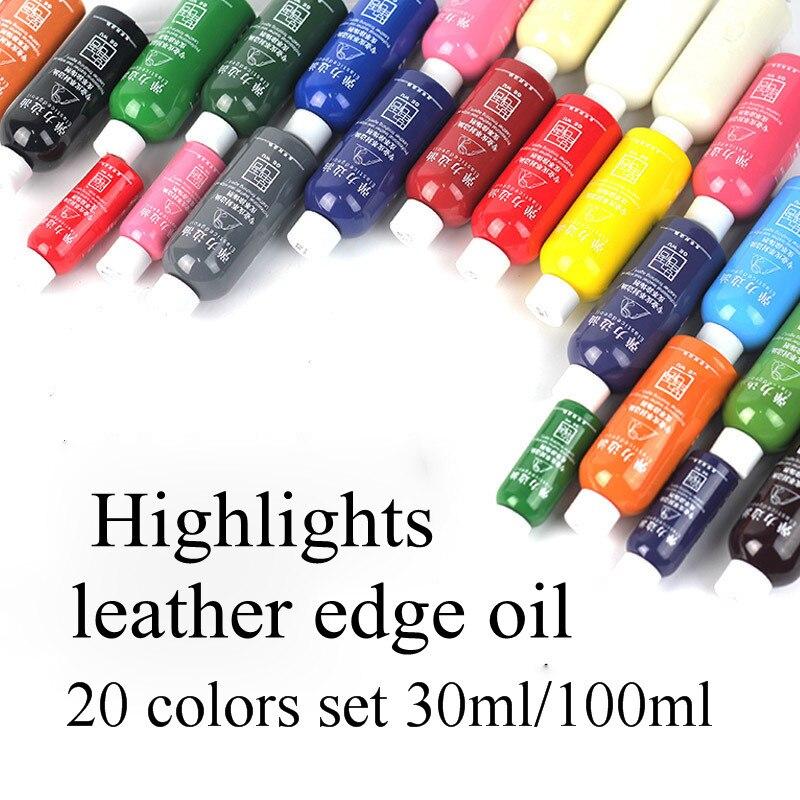 20 colors set 30ml/100ml colorful paint Leather edge oil edge dye Highlights edge oil боди edge street edge street ed008ewsqf15