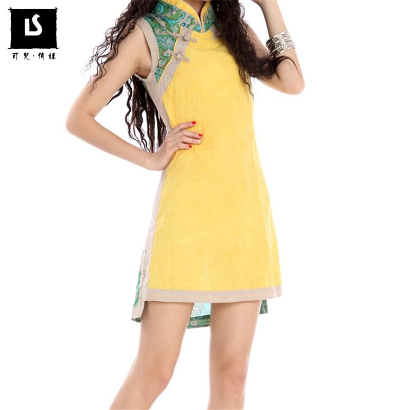 2018 Letní Dámské Elegantní Party Sexy Šaty Vysoce kvalitní Bavlněné Povlečení Vintage Tisk Slim Vest Šaty Těleso Krátké šaty