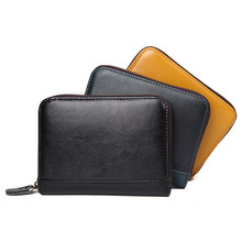 Genuine Leather Unisex Card Holder Wallets High Quality Female Credit Card Holders Women RFID Card holder Purse R-8439 realer wallets for women genuine leather long purse female clutch with wristlet strap bifold credit card holders rfid blocking