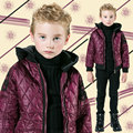 Boys Embroidered Rope Cotton Coat 2016 Fashion Brand Boys Parka Jacket Winter Kids Hooded Jacket Baby Warm Snowsuit