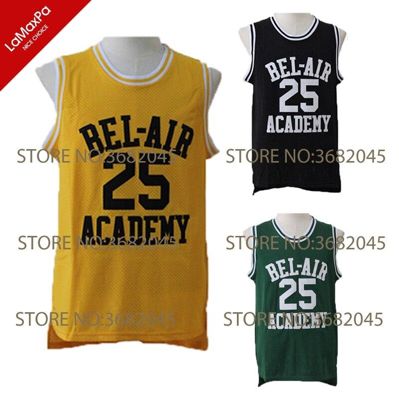 Will Smith Basketball Jerseys Prinz von Bel Air Akademie Carlton Banken No. 25 Genäht Günstige Hohe Qualität Shirts Für männer