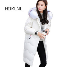 2019 New Womens Winter Down Jacket Coat Large Fur Collar Long Outer Loose Size Hooded Thick Warm OUTERWEAR Tq002