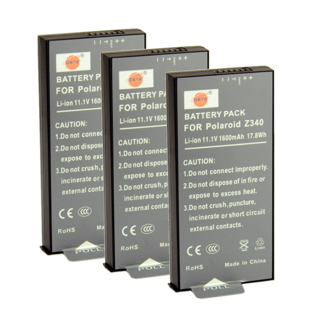 DSTE 3PCS Z340 Rechargeable Battery for Polaroid Z340 POGO GL10 Camera