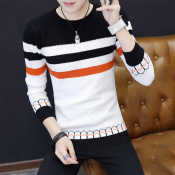 цена на Mens Sweaters New Classic Simplicity Pullover O-Neck Sweater Men Long Sleeves Grey Black Teenagers Sweaters
