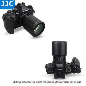 Image 4 - JJC ABS adanmış Lens Hood gölge koruyucu Olympus M.ZUIKO dijital ED 60mm f2.8 makro Lens yerine Olympus LH 49 siyah