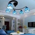 Средиземноморский стиль  железное стекло  потолочные светильники  креативные  для спальни  гостиной  ресторана  учебы  детский свет  3/5 потол...