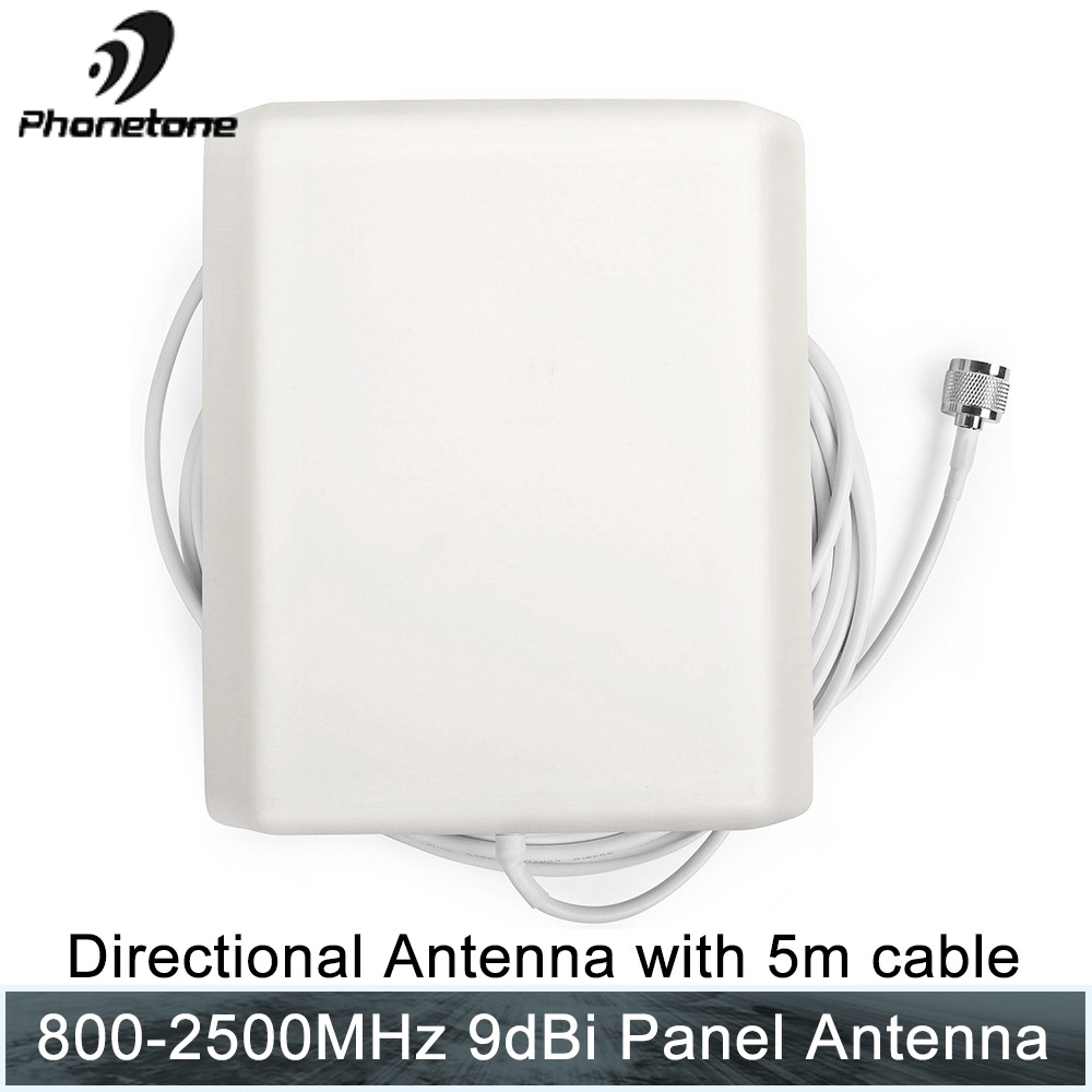 800 2500MHz 9dBi GSM 3G Lte inside high gain Antenna Indoor Directional Panel Antenna with 5m cable for Repeater Signal Booster
