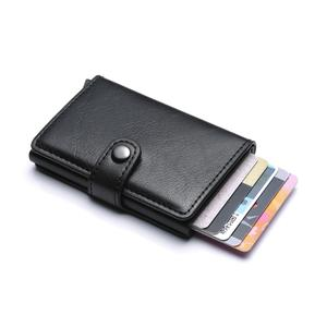 New Metal Anti Rfid Wallet Credit id Card Holder Men Women Business Cardholder Cash Card Pocket Case Passes creditcard holder(China)