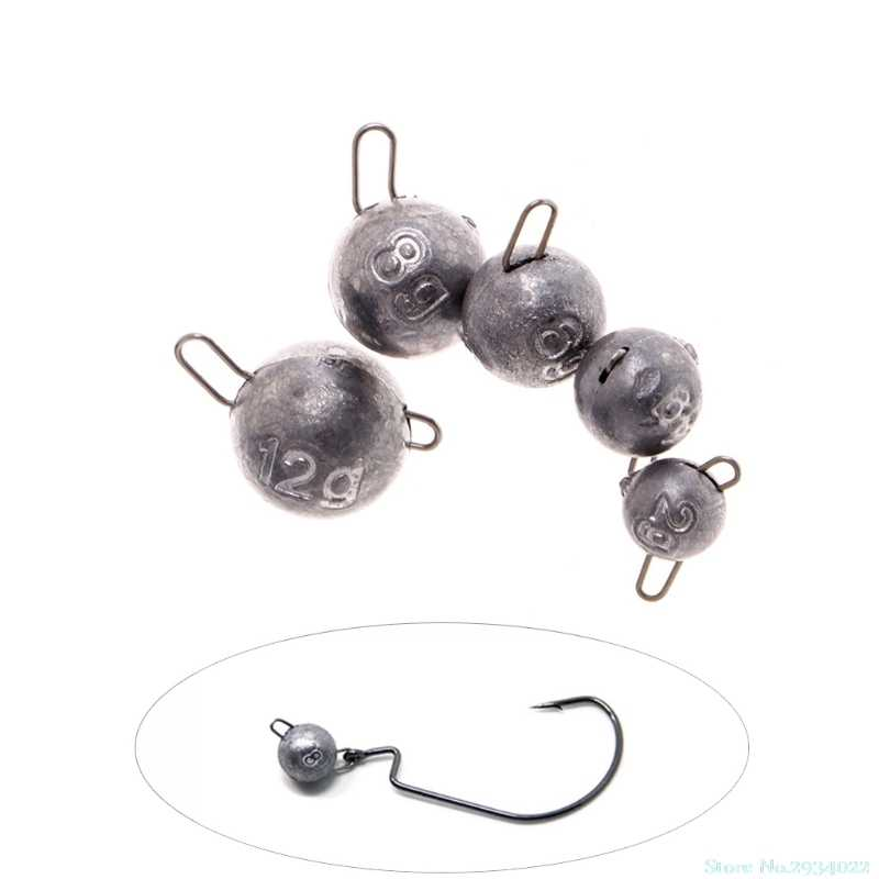 New Fishing Sinker Fish Accessories Round Lead Drop Shot Tackle Tool Rig 2g 4g 6g 8g 12g Drop Ship