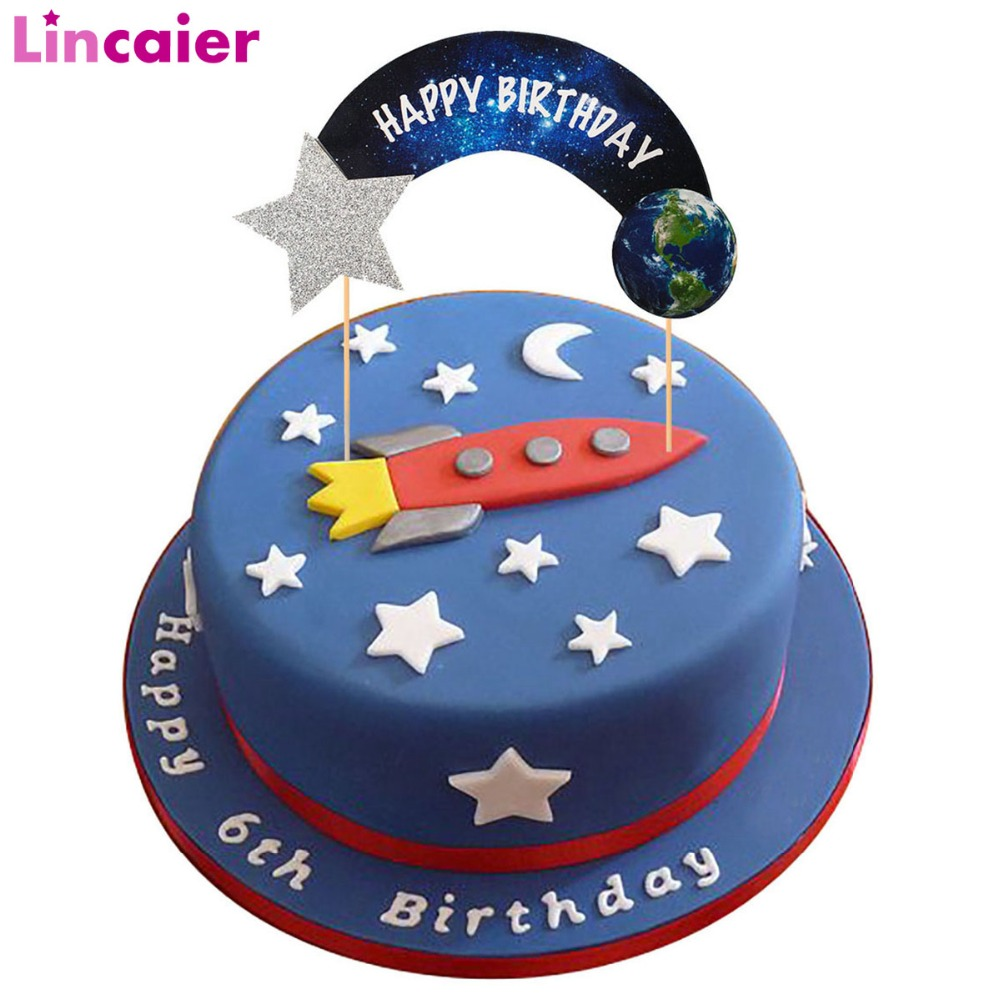 Kitchen Dining Bar Cake Toppers Acrylic Boy Girl 6th Birthday 6 Years Loved Childrens Cake Topper
