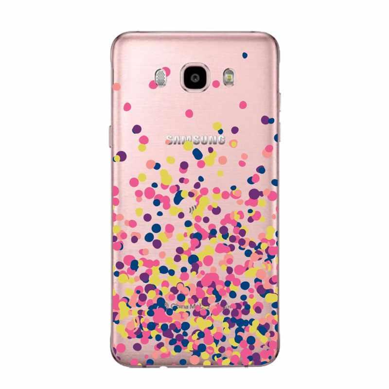 Doux Rose Clair TPU Téléphone étui pour samsung J3 J5 J7 S6 S7 S8 note8 A3 A5 C7 J2prime Imprimé Coque Fundas Couverture de Sac Livraison Gratuite