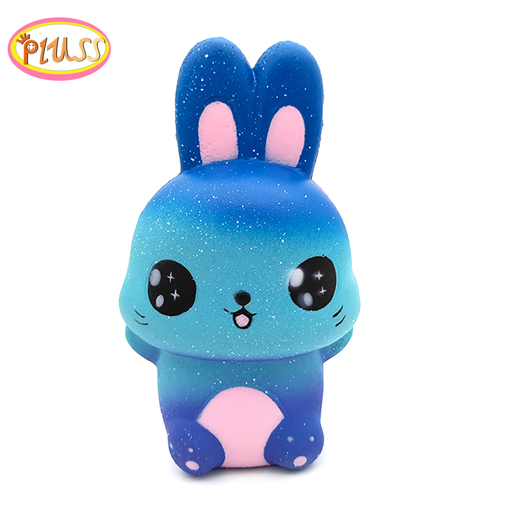 Antistress Squishy Animales Rabbit Galaxy Simulated Animal Doll Slow Rising Bread Scented Squeeze Toy Stress Relief Fun For Kid