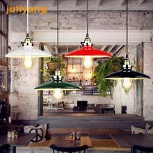 EHOME moderno Metal sombra iluminación accesorios Cocina Oficina comedor habitación luces colgantes Vintage lámpara de techo blanco negro rojo