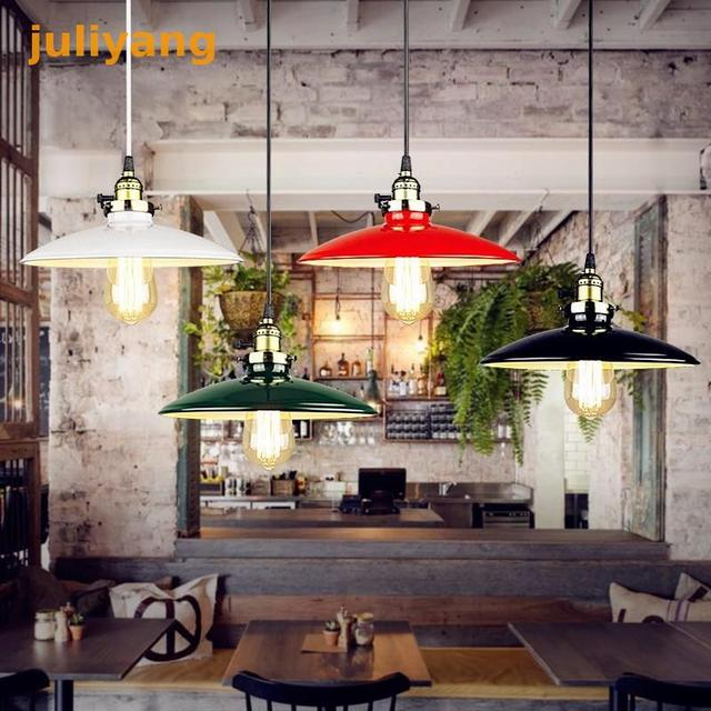 EHOME Modern Metal Shade Lighting Fixtures Kitchen Office dinner room Pendant Lights Vintage Ceiling Lamp White black red