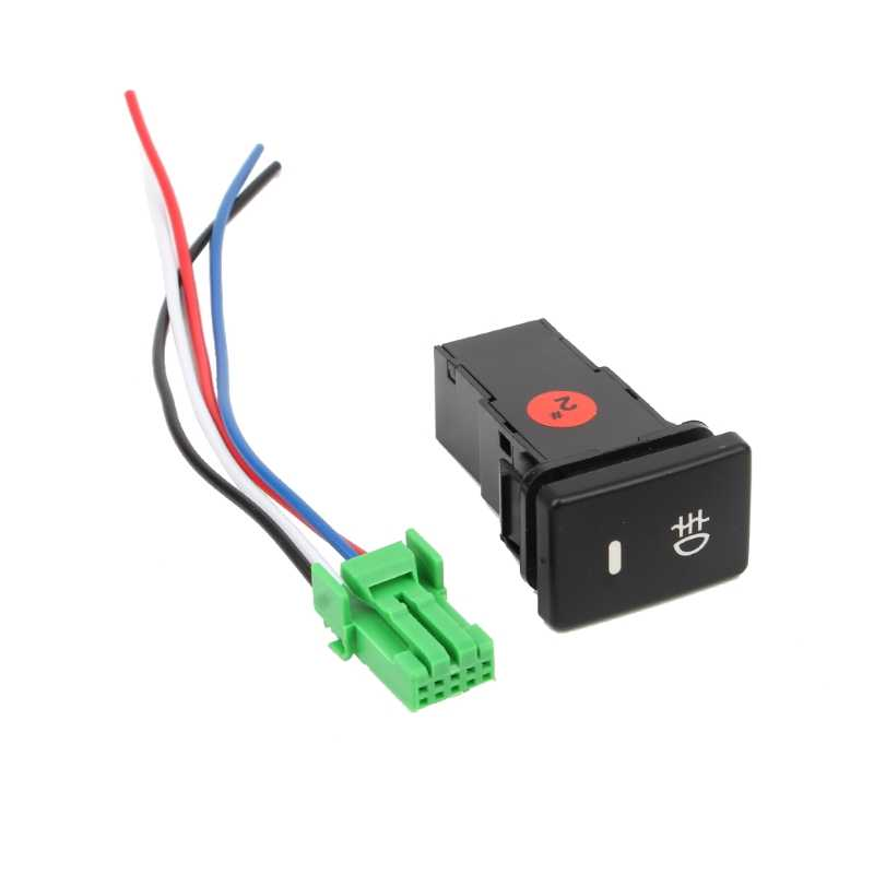 1 pièces DC12V interrupteur anti-brouillard arrière bouton 4 fils pour Toyota Camry Prius Corolla accessoires de voiture