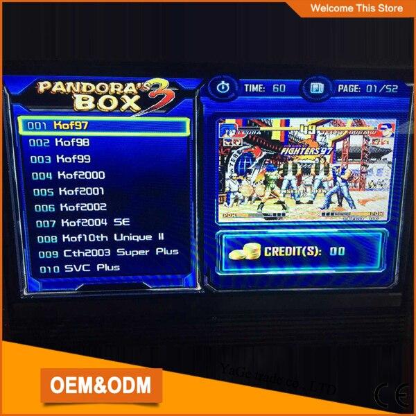 New Arrival  multi game 520 in 1 PCB board Upgraded Version Pandora's Box 3, CGA & VGA output  for Arcade Cabinet new arrival 520 in 1 multi game board the new upgraded version just another pandora s box 3 cga
