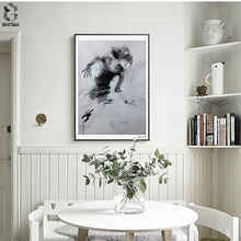 Nordic Art Posters and Prints Watercolor Ballet Dancer Wall Canvas Painting Pictures For Living Room Artwork Home Decor