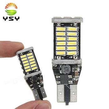 50PCS White T15 LED Bulbs 30-SMD 4014 Daytime Driving Backup Reverse Side Marker Lights High Power 6000K
