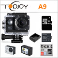TOPJOY Action Camera 1080P 2 Inch 30M Waterproof Mini Action Outdoor Sport Cam Camcorders 1920*1080 15FPS Sport Video Camera A9