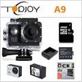 Topjoy action camera 1080 p 2 polegada 30 m à prova d' água mini filmadoras cam ação esporte ao ar livre 1920*1080 15fps câmera de vídeo esporte a9