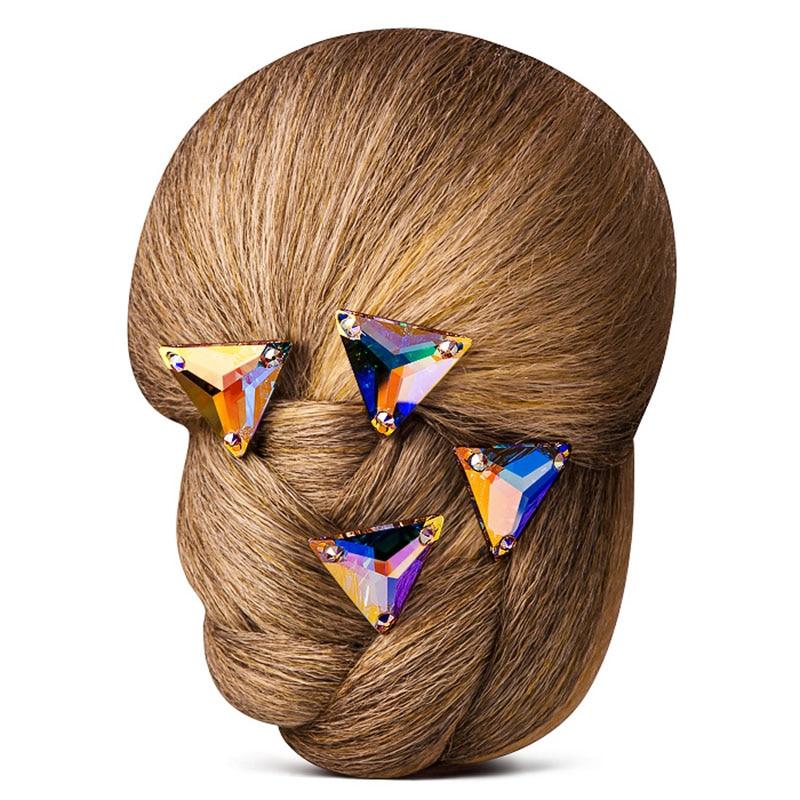 Topp 3270 Triangle 16mm 22mm Crystal AB Sy på stenglas Rynstenar - Konst, hantverk och sömnad - Foto 2