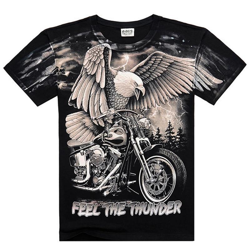 [Mannen been] Dragon Skull Wolf gedrukt t-shirt mannen heren topkwaliteit katoenen t-shirt hiphop heren o-hals korte mouw tops tees