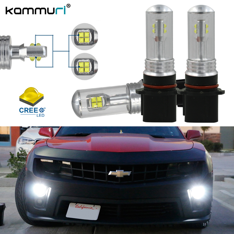 Super bright HID Whit P13W PSX26W High Power 80W CRE'E LED Bulbs For 2010-2013 Chevy Camaro Daytime Running Lights KAMMURI