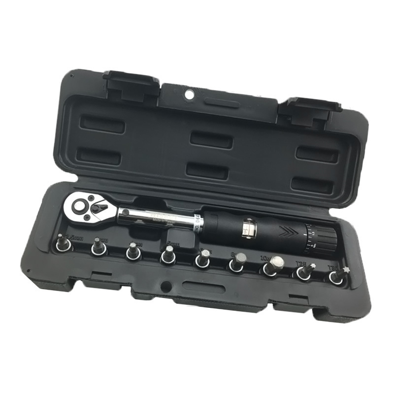 PROMEND bike repair tool 1/4in DR 2-24NM 9 PCS Torque Wrench Bicycle Bike Tools Kit Set Tool Bike Repair Spanner Hand Tools gub hin 181 portable bicycle stainless steel repair tool kit wrench set black
