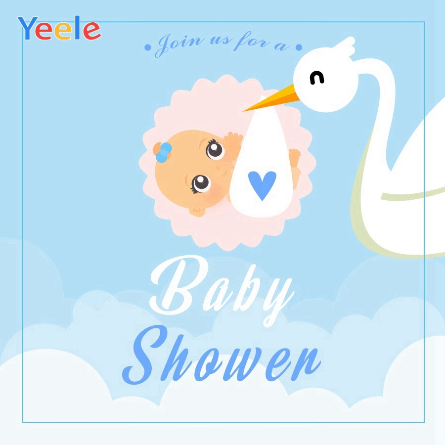 Yeele Baby Shower Photocall Crane Cute Child Newborn Photography Backdrop Personalized Photographic Backgrounds For Photo Studio
