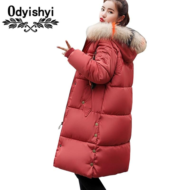 Coton Hs243 Couleur beige Fourrure Nouveaux Hiver 2018 Ukrainienne black Mode Survêtement Veste Épaisse Red pink Taille Grande De Col gray Lâche Manteau Rembourré Femmes Parkas dHq1q7