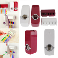 Automatic Toothpaste Dispenser + 5 Toothbrush Holder Set Wall Mount Stand toothbrush Family sets ZX071 5