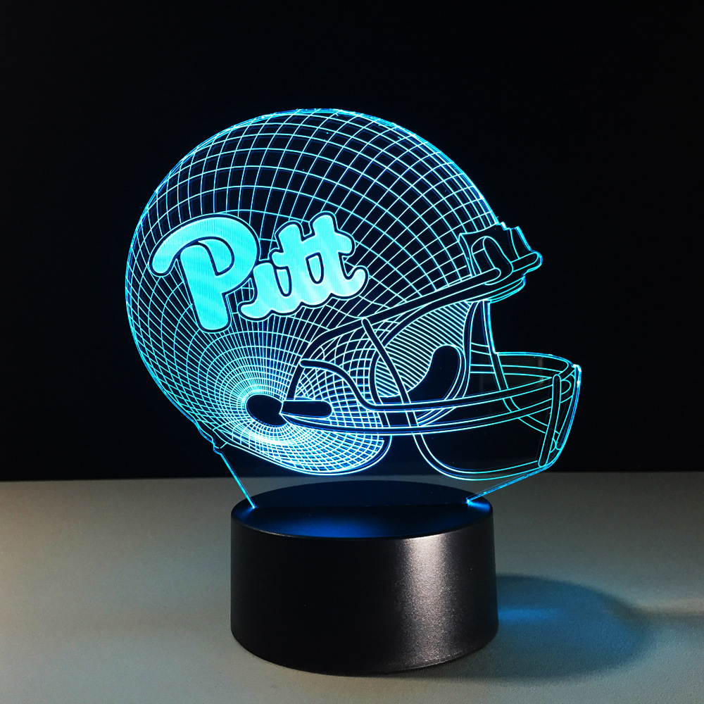Rugby Helmet 3D Lamp Color-Changing Atmosphere Night Lights LED Football Cap Hat Table Lamp Gifts Bedside Sleep Lighting Decor