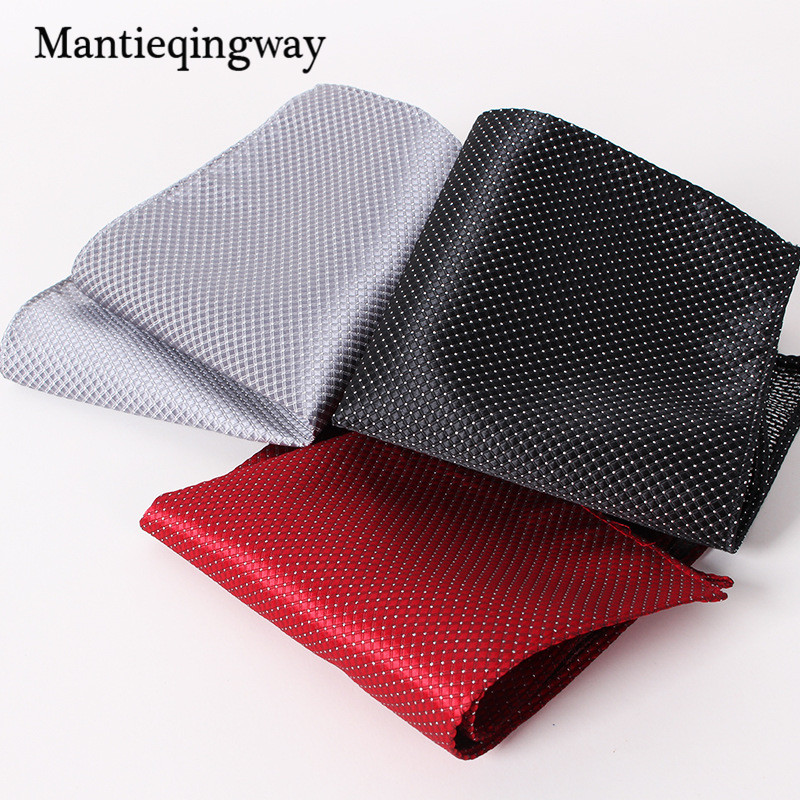 Mantieqingway Men's Business Casual Square Pockets Handkerchief Wedding Hankies New  Handkerchiefs Woven Plaid & Striped Hanky