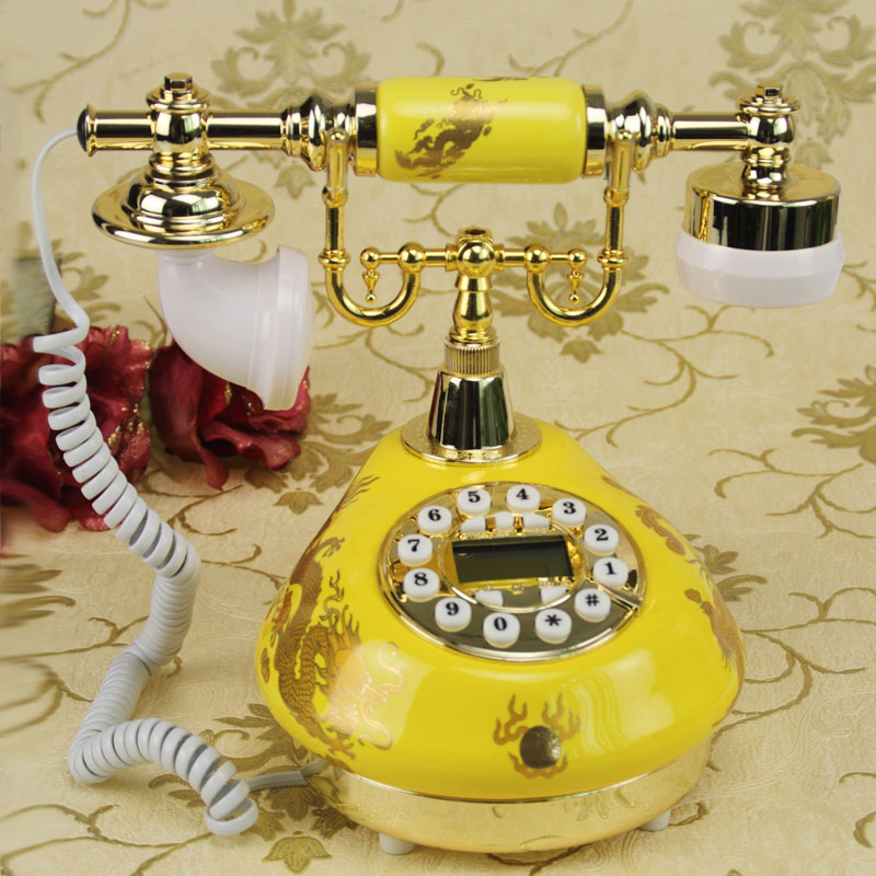 Special retro antique style antique garden style wedding supplies European antique home antique fixed telephone backlit Caller