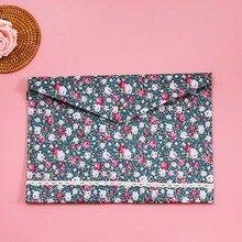 1 шт. прекрасный корейский стиль Маленькая цветочная ткань A4 папка для документов сумка Папка офисная канцелярская сумка