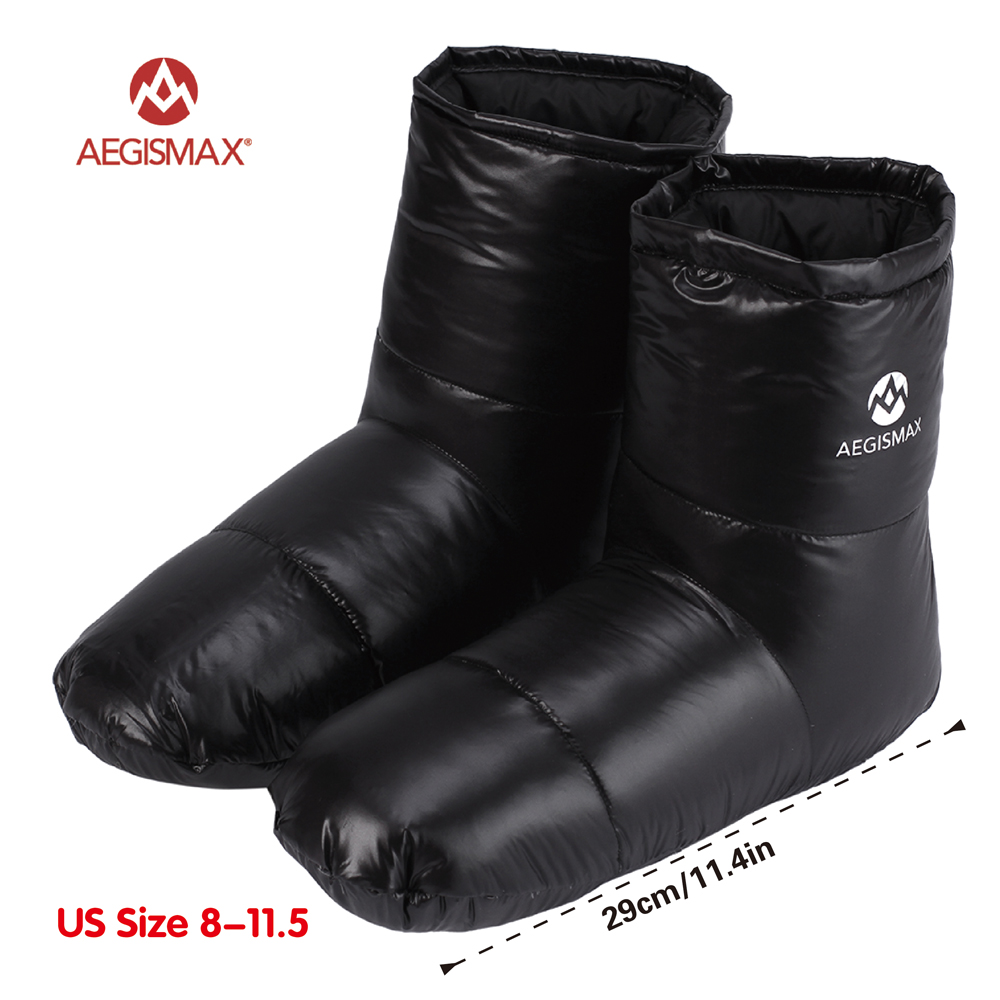 AEGISMAX Sleeping Bag Accessories Duck Down Slippers Camping Out Soft Sock Unisex Indoor/Warm Long Journey Lightweight